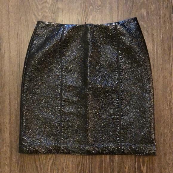 H&M Vinyl Skirt